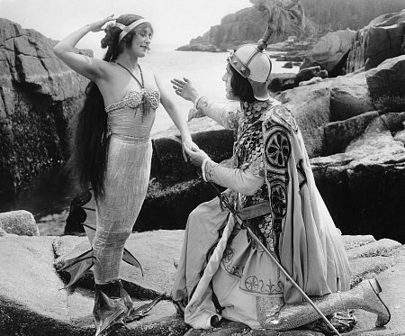 Annette playing her usual mermaid role. Merilla, The Queen of the Sea, 1918, Fox Films [Public domain]